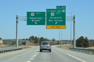 I-395 east at US 1A - Brewer, ME