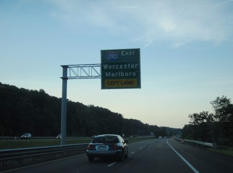 I-395 north at I-90/290 - Auburn, MA