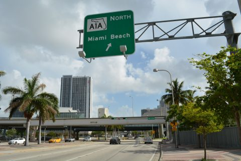 US 1/Biscayne Blvd north at I-395/SR A1A - Miami, FL