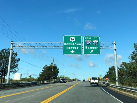 US 1A west at I-395 - Brewer, ME