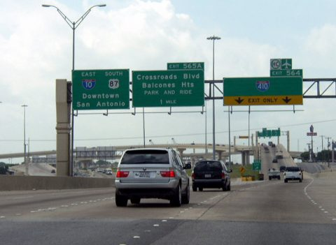 IH 10/US 87 east at IH 410 - San Antonio, TX