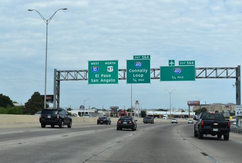 IH 10/US 87 west at IH 410 - San Antonio, TX