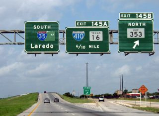 IH 35 south at SL 353 and IH 410 - 2003