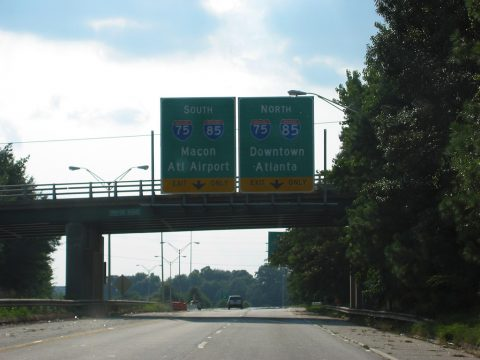 SR 166 west at I-75/85 - Atlanta, GA
