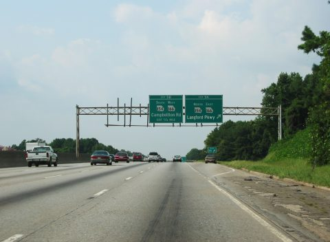 I-285 north at SR 154/166 - Atlanta, GA