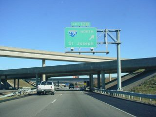 I-35 north at I-435 - 2002