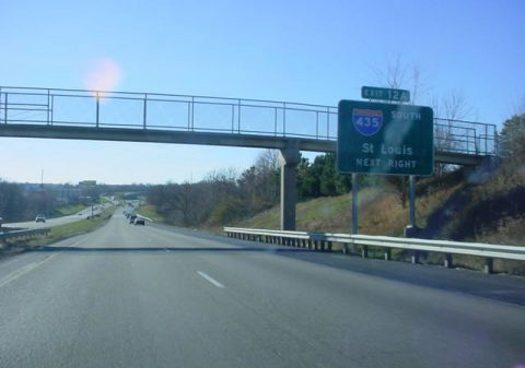 I-35/Route 110 south at I-435/US 69 - Pleasant Valley, MO