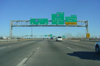 I-435 south at I-35/US 50 - 2002