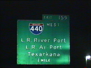 I-40 east at I-440 - North Little Rock, AR - 1995