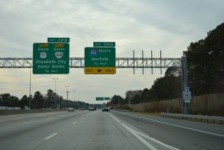 I-64/SR 168 south at I-464/US 17 - Chesapeake, VA
