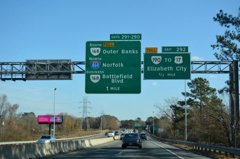 I-64/US 17 south at I-464/SR 168 - Chesapeake, VA