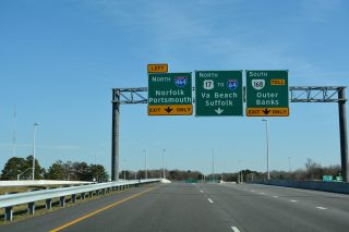 US 17 north at I-464/SR 168 - Chesapeake, VA