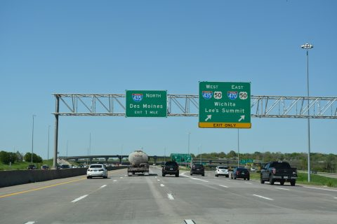 I-49/US 71 north at I-435/470/US 50