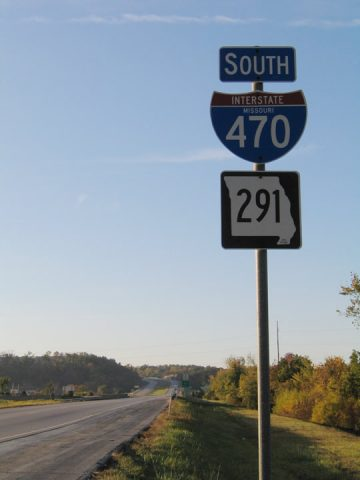I-470/MO 291 south of I-70/US 40
