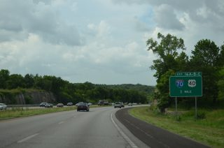 I-470 north at I-70 - Independence, MO
