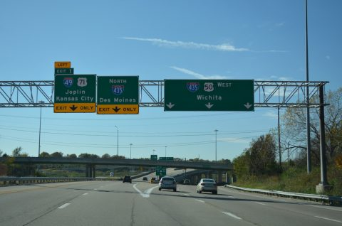 I-470/US 50 west at I-49/435/US 71