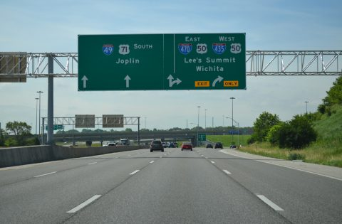 I-49/US 71 south at I-435/470 - Kansas City, MO