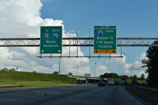 I-75 south at I-475 - Bolingbroke, GA