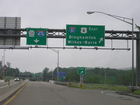 US 6 west at I-476 - Clarks Summit, PA