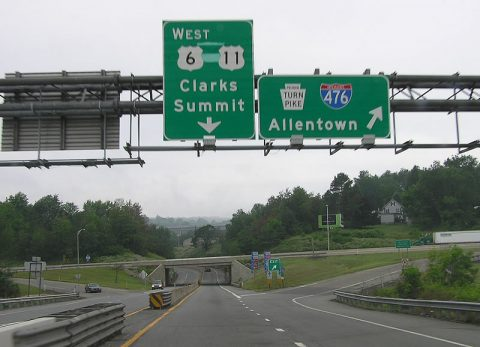 US 6 east at I-476 - Clarks Summit, PA