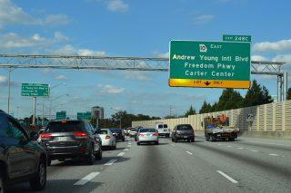 I-75/85 north at Georgia 10