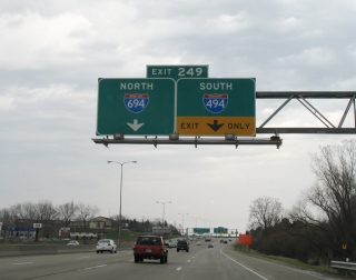 I-94/US 12 east at I-494/694 - Woodbury, MN