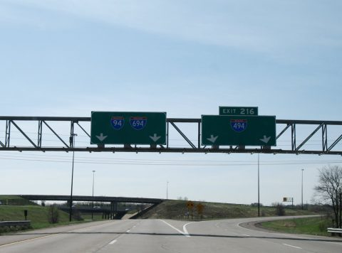 I-94/US 52 east at I-494/694 - Maple Grove, MN