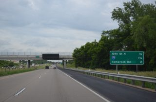 I-694 south at I-94/US 12 - Oakdale, MN