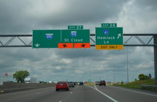 I-94/694 west at I-494 - Maple Grove, MN