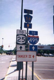 Tanger Mall Drive east at I-495