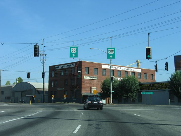 US 30 west at Nicolai St - Portland, OR