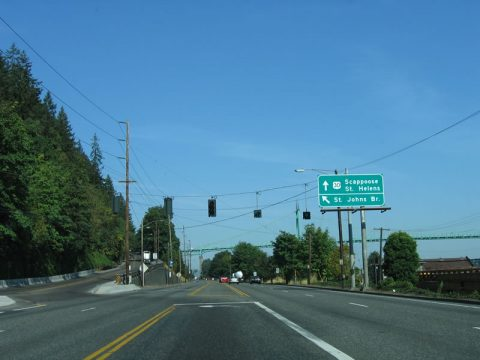 US 30 west at US 30 Bypass/St. Johns Br - Portland, OR