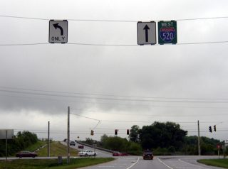 SR 28 at I-520 temporary east end - 2003