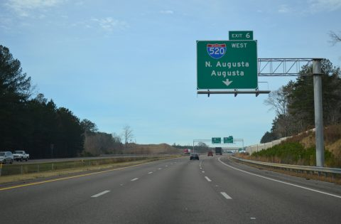 I-20 west at I-520 - North Augusta, SC