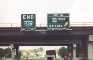 I-520 west end in 2000 - Augusta, GA