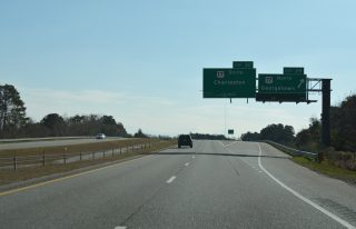 I-526 east at US 17 - Mt. Pleasant, SC
