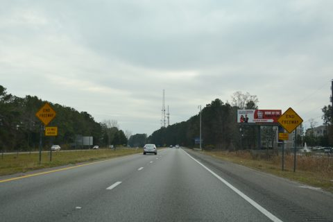 I-526 west at US 17 - Charleston, SC