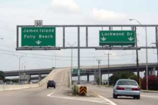 Lockwood Dr south at S.C. 30 - Charleston