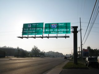 US 17 north at SC 7/I-526 - Charleston