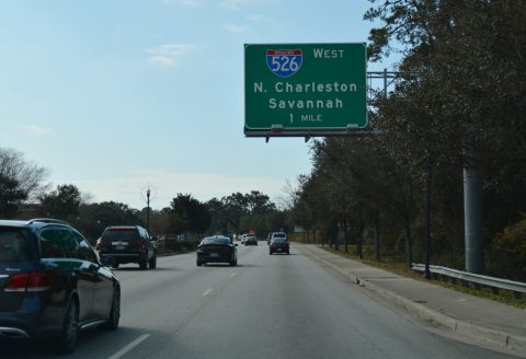 US 17 south at I-526 - Mt. Pleasant, SC