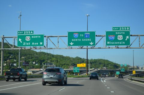 I-35 north at I-535/US 53 - Duluth, MN