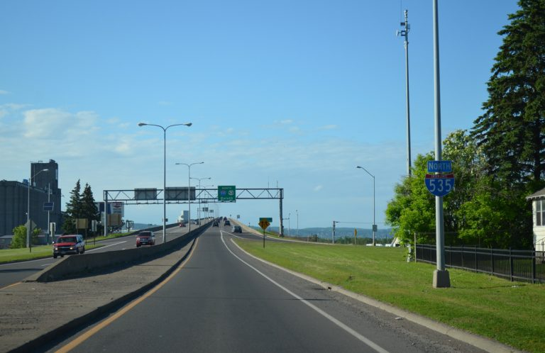 I-535/US 53 north at Blatnik Bridge - Superior, WI