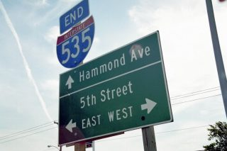 I-535/US 53 south at Hammond Av - 2000
