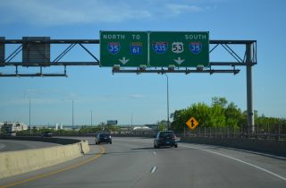 US 53 south at I-35/535 - Duluth, MN
