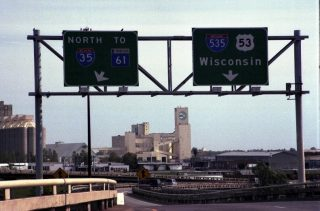 US 53 south at I-35/535 - 2001