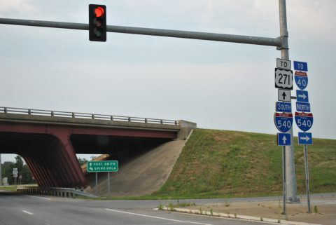 AR 253 north at I-540/US 271 - Fort Smith
