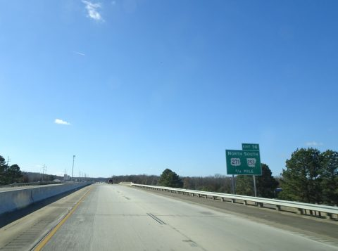 I-540 south at US 271/AR 253 - Fort Smith