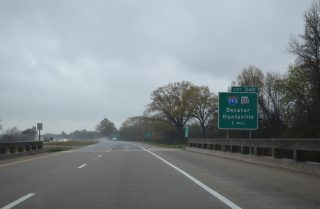 One mile south of I-565