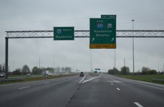 I-65 north at I-565 - Decatur, AL