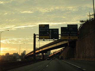 I-376 west at I-579 - Pittsburgh, PA